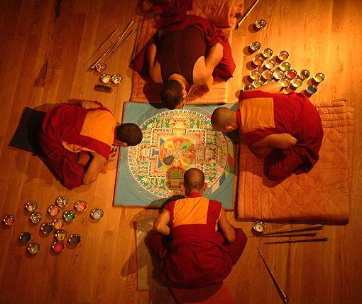 mandala dei monaci tibetani